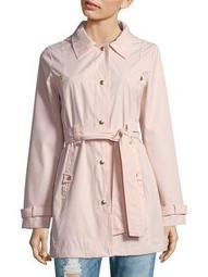 Plus Belted Self-Tie Coat