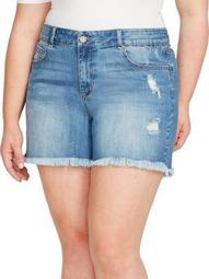 Plus Perfect Denim Shorts