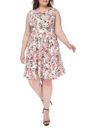 Plus Plus Skye Knit Floral Print Dress