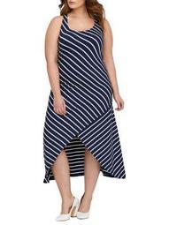 Plus Yarn-Dyed Stripe Maxi Dress
