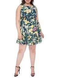 Plus Plus Amina Sleeveless Apron Dress