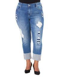 Plus Plus Hi-Cuff Slim-Fit Jeans