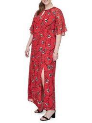 Plus Miriaz Short-Sleeve Maxi Dress