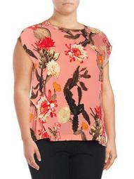 Plus Camile Floral Top