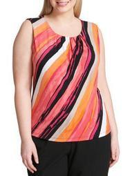 Plus Side Stripe Blouse