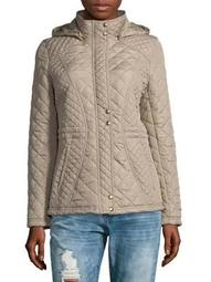 Plus Hooded Quilt Tango Jacket