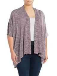 Plus Short Sleeve Knit Cardigan