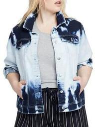 Plus Cloud Wash Denim Jacket