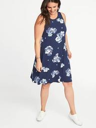 Sleeveless Plus-Size Jersey-Knit Swing Dress | Shop Scenes