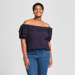 f0db54c3edf784 Ava   Viv™ Women s Plus Size Lace Off the Shoulder Short