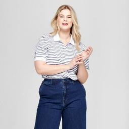 3a7f3f30f52 Ava   Viv™ Women s Plus Size Striped Puff Sleeve Short Sleeve