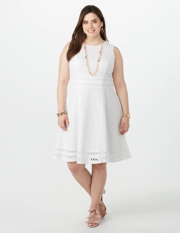 Dressbarn Plus Size Eyelet Crochet Dress   Shop Scenes