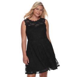 Kohls Juniors\' Plus Size Wrapper Lace Skater Dress - $58.00