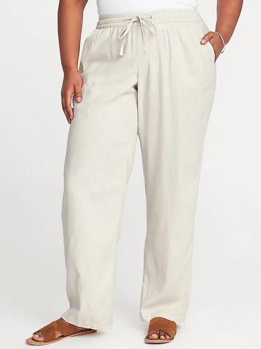 fbfb5d44743831 Plus-Size Linen-Blend Wide-Leg Soft Pants | Shop Scenes