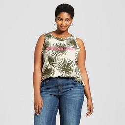 fa8a02d23af0c A New Day™ Women s Plus Size Paradise Graphic Cotton Tank Top - A