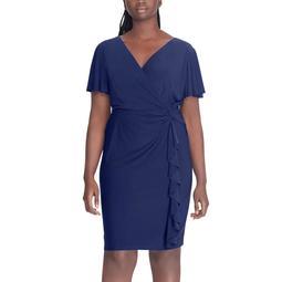 Kohls Plus Size Chaps Ruffle Faux-Wrap Dress | Shop Scenes