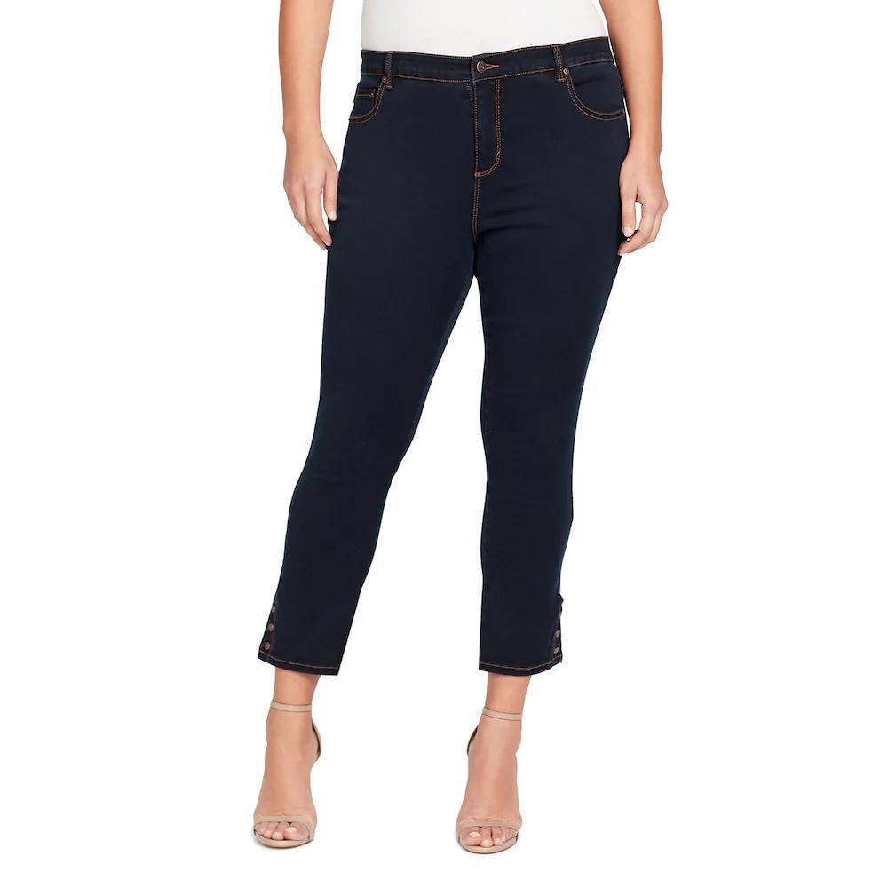 e6c7c4f26fe9b plus size gloria vanderbilt amanda snap hem skinny ankle jeans Kohls Plus  Size Gloria Vanderbilt Amanda Snap-Hem Skinny Ankle Jeans