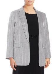 Plus Plus Open Pinstripe Jacket