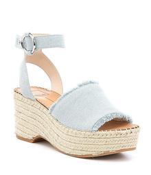 Dolce Vita Lesly Denim Ankle Strap Platform Espadrille Sandals