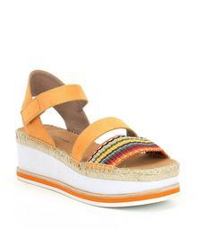 Donald Pliner Anie Striped Espadrille Flatform Sandals