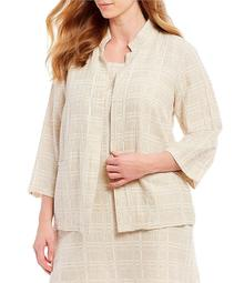Eileen Fisher Plus Size High Collar Sleeves Jacket
