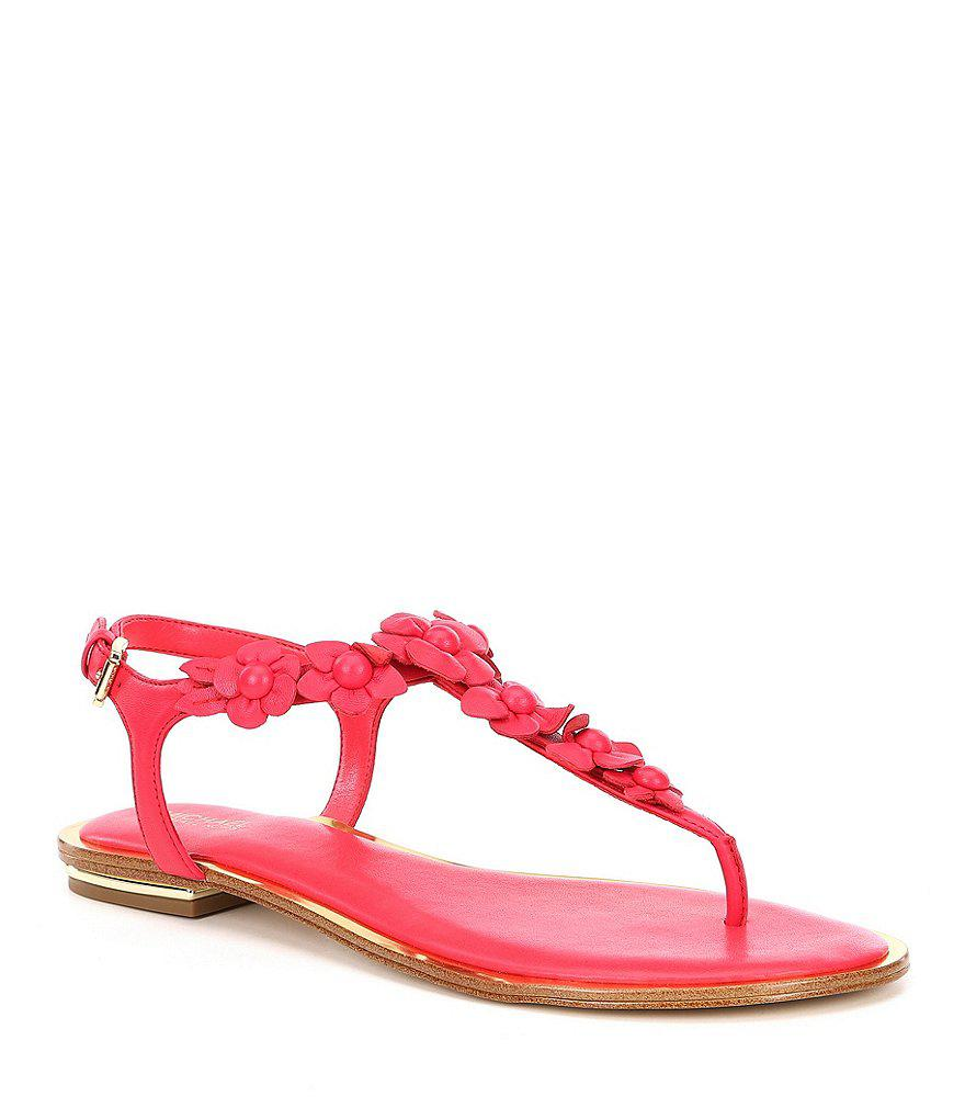 507a4ffe9be8 Michael Michael Kors Tricia Floral Applique Thong Sandals