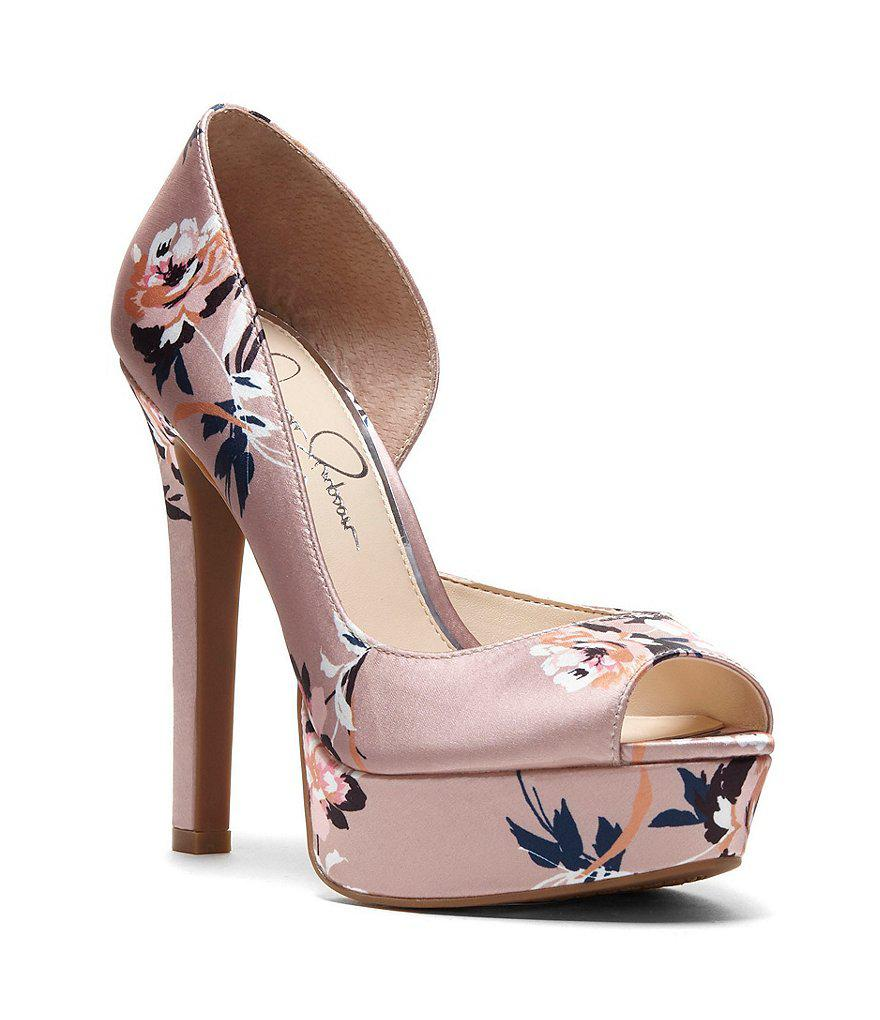 Jessica Simpson Martella Satin Floral