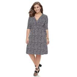 Kohls Plus Size Apt. 9® Grommet Faux-Wrap Dress | Shop Scenes