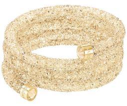 Crystaldust Wide Bangle, Golden