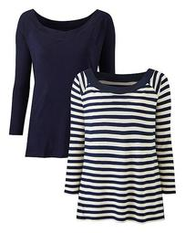 2 Pack Bardot Tops
