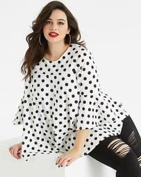 AX Paris Curve Polka Dot Top
