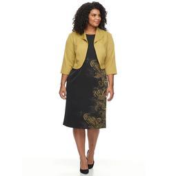 Kohls Plus Size Maya Brooke Side Paisley Print Jacket Dress - On Sale for  $30.00 (regular price: $100.00)