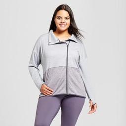 58d4f8f28db C9 Champion® Women s Plus-Size Tech Fleece Color Block Jacket - C9