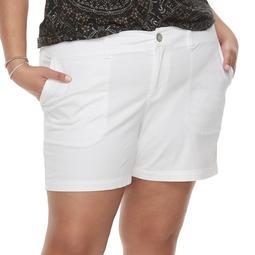 f335dc7d0f7 Kohls Plus Size SONOMA Goods for Life™ Comfort Waist Shorts