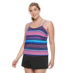 702ce3a9f024 Kohls Plus Size Trimshaper Farrah Tummy Slimming Swim Romper