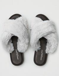 AEO X-Band Faux Fur Sandal
