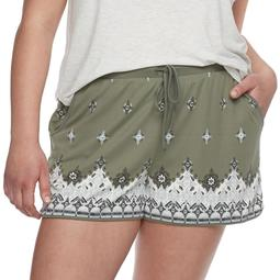 72cf22be26 Juniors' Plus Size Mudd® Peached Shorts