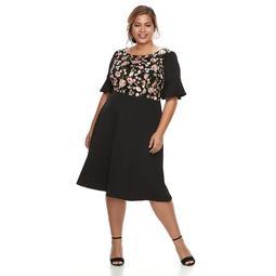 Kohls Plus Size Chaya Floral Ruffle-Sleeve Dress | Shop Scenes