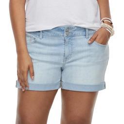 3a1d488ed9 Kohls Juniors' Plus Size SO® Double-Button Denim Midi Shorts