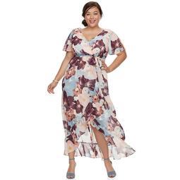 Kohls Plus Size Chaya Split Short Sleeve Maxi Dress - On Sale for $48.00  (regular price: $120.00)