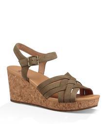 UGG® Uma Suede Wedge Sandals