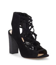 Vince Camuto Stesha Suede Caged Block Heel Sandals