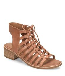 Comfortiva Blossom Ghillie Lace Up Front Block Heel Sandals