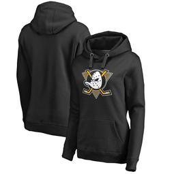 Anaheim Ducks Fanatics Branded Women's Plus Sizes Alternate Logo Pullover Hoodie - Black