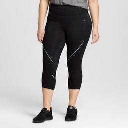 a4a553a665797a C9 Champion® Women's Plus-Size Run Capri Leggings - Black - C9