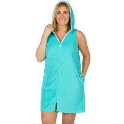 Plus Size Stan Herman Short Hooded Robe