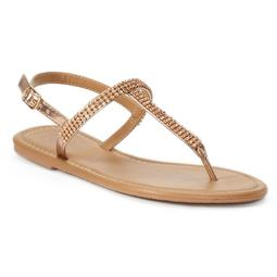 Women's Candie's® Bling T-Strap Sandals