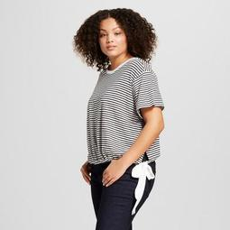 be90879c0 A New Day™ Women's Plus Size Striped Short Sleeve Tie Hem T-Shirt