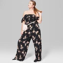 e3d7a5a966d Wild Fable™ Women s Plus Size Floral Flutter Sleeve Cold Shoulder