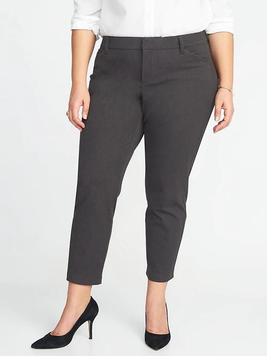 4ba121cdbc0 Mid-Rise Plus-Size Secret-Slim Pockets Pixie Pants